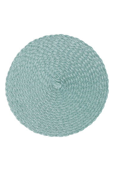 Set van 2 ronde placemats - Nevelgroen - HOME | H&M BE 1