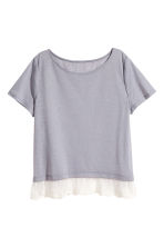Top with a lace trim - Lavender - Ladies | H&M CA 2