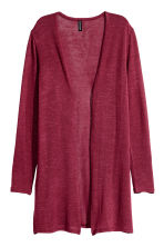 Fine-knit cardigan - Dark red - Ladies | H&M CN 2