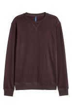 Lightweight sweatshirt - Burgundy - Men | H&M CN 2