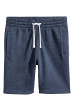 Sweatshirt shorts - Dark blue marl - Men | H&M CA 2