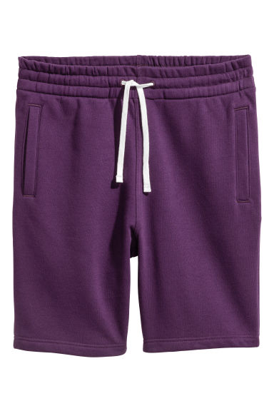 Sweatshirt shorts - Purple - Men | H&M 1