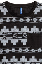 T-shirt with a chest pocket - Black/Patterned - Men | H&M 3