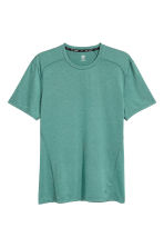 Sports top - Light green marl - Men | H&M 2
