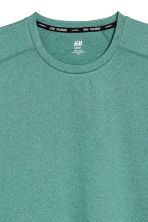 Sports top - Light green marl - Men | H&M 3
