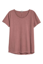 Raw-edge T-shirt - Pale red - Men | H&M 2