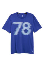 Printed sports top - Blue - Men | H&M CA 2