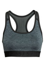 Sports bra Medium support - Dark grey marl - Ladies | H&M 2