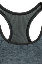 Sports bra Medium support - Dark grey marl - Ladies | H&M 3
