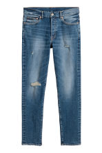 Slim Low Jeans - Dark blue washed out - Men | H&M CA 2