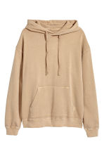 Washed hooded top - Beige - Men | H&M CN 2