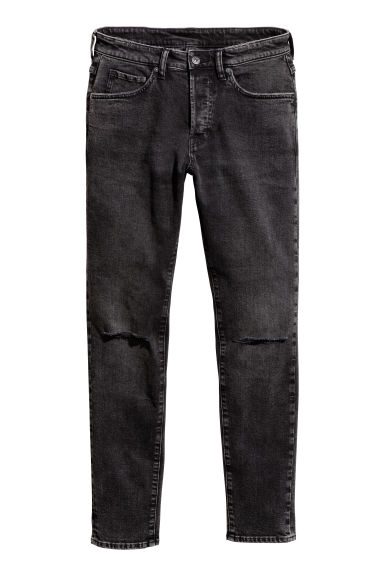 Skinny Low Jeans - Black washed out -  | H&M