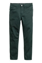 Twill trousers Slim fit - Dark green -  | H&M 1