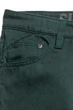 Twill trousers Slim fit - Dark green -  | H&M 2