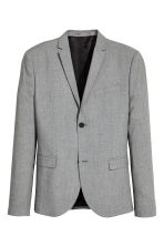 Jacket Skinny fit - Grey marl - Men | H&M GB 2