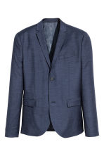 Jacket Skinny fit - Dark blue marl - Men | H&M CN 2