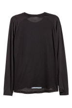 Long-sleeved running top - Black - Men | H&M 3