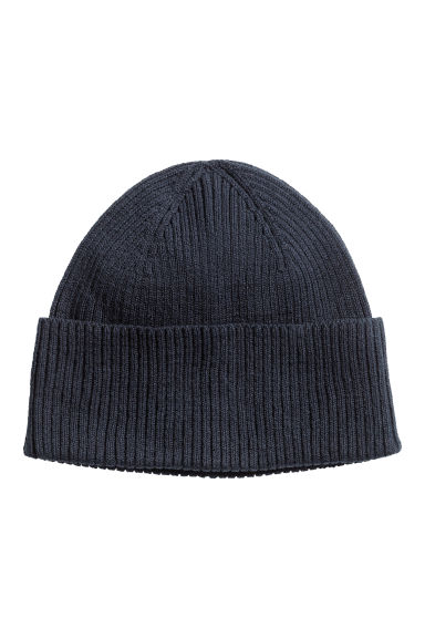 Ribbed hat - 深蓝色 - Men | H&M CN 1