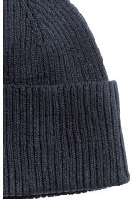 Ribbed hat - 深蓝色 - Men | H&M CN 2