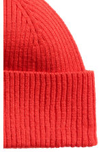 Ribbed hat - Red - Men | H&M 2