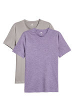 2-pack T-shirts Slim fit - Purple/Mole - Men | H&M 2