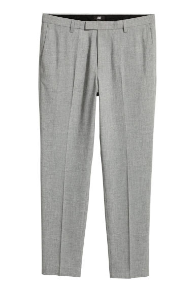 Suit trousers Skinny fit - Grey marl -  | H&M