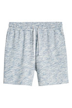 Sweatshirt shorts - Light blue marl - Men | H&M CN 2