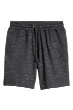 Sweatshirt shorts - Black marl - Men | H&M GB 2