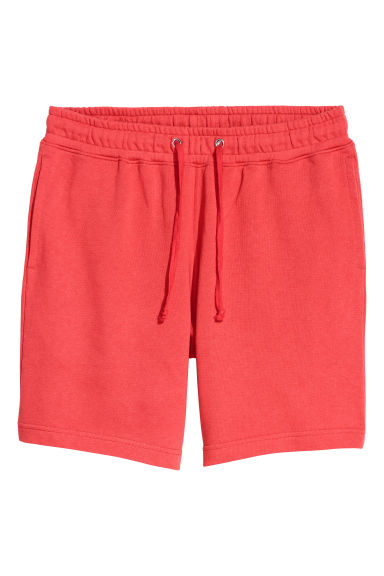 Sweatshirt shorts - Bright red - Men | H&M
