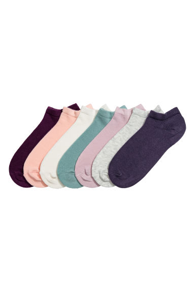 7-pack trainer socks - Dark purple -  | H&M