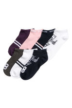 7-pack trainer socks - White/Dark blue -  | H&M 1