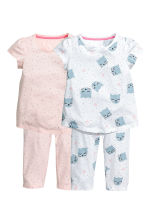 2-pack jersey pyjamas - Powder pink -  | H&M 1