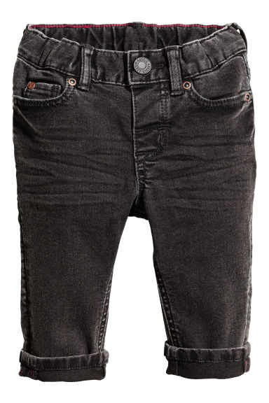 Slim fit Jeans - Black washed out - Kids | H&M 1