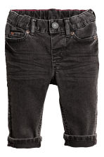 Jeans Slim fit - Svart washed out -  | H&M FI 1