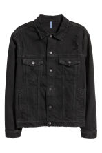 Denim jacket - Black - Men | H&M CN 2