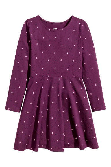 Jersey dress - Plum/Hearts - Kids | H&M 1