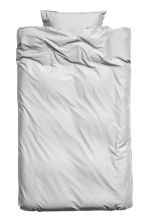 Washed cotton duvet cover set - Light grey - Home All | H&M CN 1