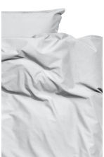 Washed cotton duvet cover set - Light grey - Home All | H&M CN 2