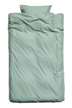 Washed cotton duvet cover set - Dusky green - Home All | H&M CN 2