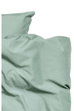 Washed cotton duvet cover set - Dusky green - Home All | H&M CN 3