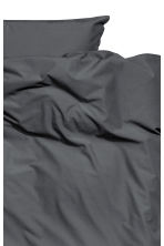 Washed cotton duvet cover set - Anthracite grey - Home All | H&M CN 2