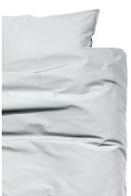 Washed cotton duvet cover set - Light grey - Home All | H&M CN 3