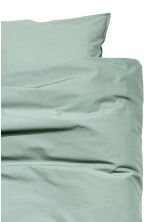 Washed cotton duvet cover set - Dusky green - Home All | H&M CN 4