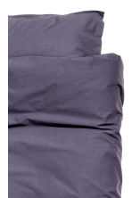 Washed cotton duvet cover set - Purple -  | H&M GB 4