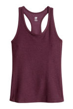 Sports vest top - Burgundy marl - Ladies | H&M 2