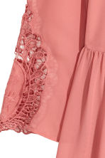 Hole-embroidered dress - Dark old rose - Ladies | H&M 3