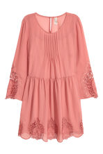 Hole-embroidered dress - Dark old rose - Ladies | H&M 2