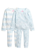 2套入平紋睡衣套裝 - Light blue/Butterflies - Kids | H&M 1