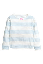 2套入平紋睡衣套裝 - Light blue/Butterflies -  | H&M 3