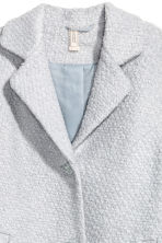 Wool-blend bouclé coat - Light grey - Ladies | H&M CN 3